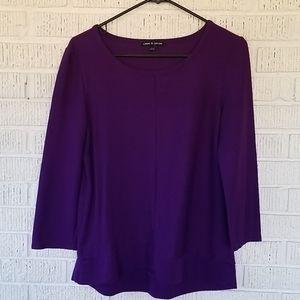 4/$25 ❤Purple 3/4 sleeve blouse